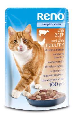 Obrázek RENO kapsa CAT HOVĚZÍ+DRUBEŽÍ 100g-9255