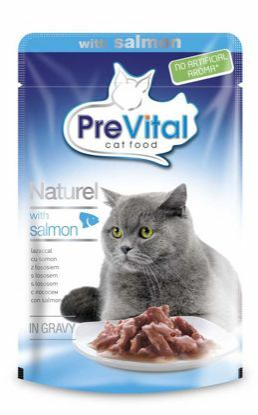 Obrázek PreVital NATUREL kapsa s lososem 85g-12527