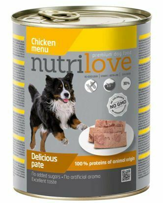 Obrázek Nutrilove pes kuřecí paté, konzerva 800 g
