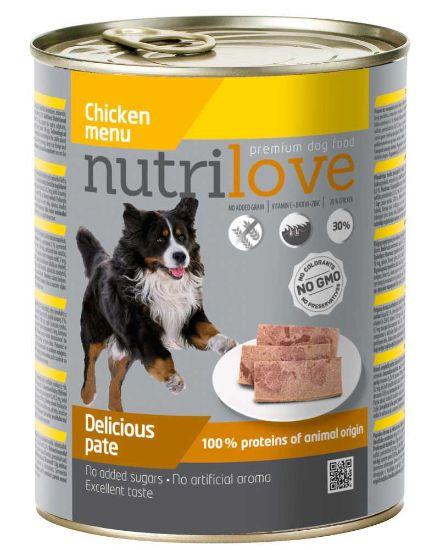 Obrázek z Nutrilove pes kuřecí paté, konzerva 800 g