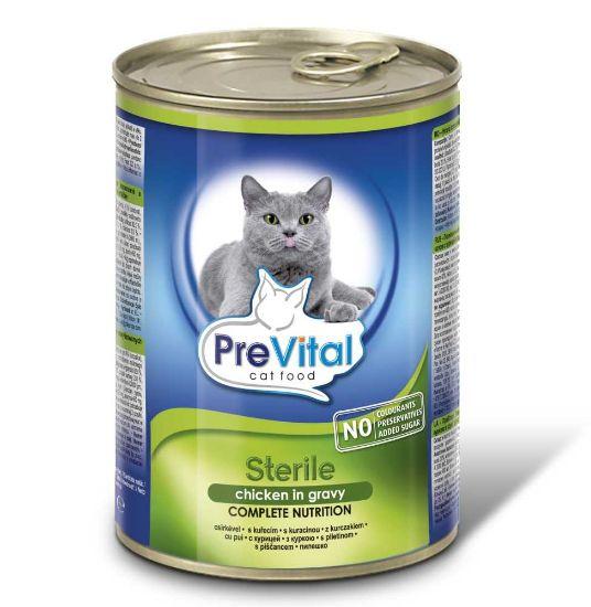 Obrázek z PreVital kočka sterilní kuře, kousky 415 g