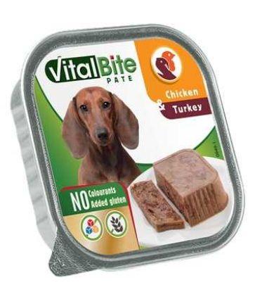 Obrázek VitalBite vanička masové kousky v paté s kuřecím a krůtím 150g-13800
