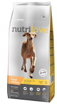 Obrázek Nutrilove pes Active fresh kuřecí, granule 12 kg