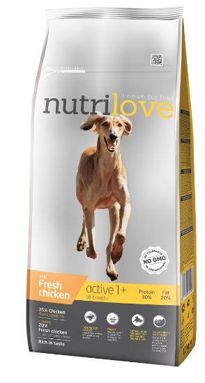 Obrázek z Nutrilove pes Active fresh kuřecí, granule 12 kg