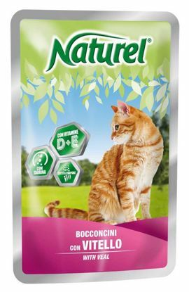 Obrázek Naturel Cat Veal (telecí), kapsička 100 g