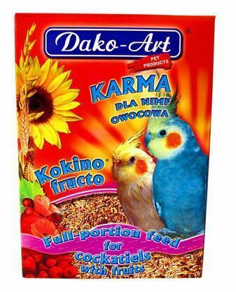 Obrázek Dako Krmivo korela ovoce 500g-10283
