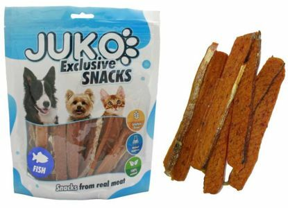 Obrázek JUKO SNACKS Salmon strip with fish skin 250 g