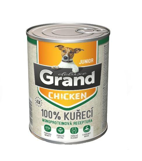 Obrázek z Grand deluxe Dog Junior 100% kuřecí 400 g