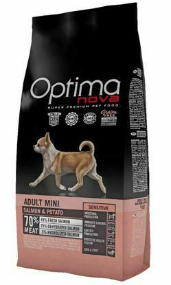 Obrázek OPTIMAnova Dog Adult Mini Sensitive Salmon & Potato GF 8 kg