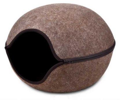 Obrázek Kukaň pelíšek vchod střed hnědá, 46x46x32,5 cm