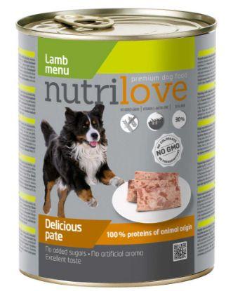 Obrázek Nutrilove pes jehněčí paté, konzerva 800 g