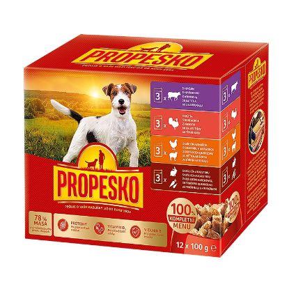 Obrázek PROPESKO KAPSA DOG 12-pack 100g-kuře/jehně, krůta, králík/mrkev-15557