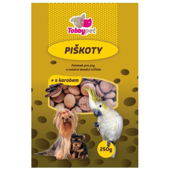 Obrázek z Piškoty krmné s karobem Tobby 250 g