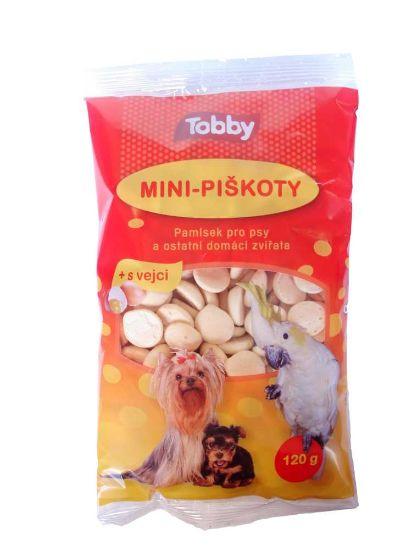 Obrázek z Piškoty krmné mini Tobby 120 g