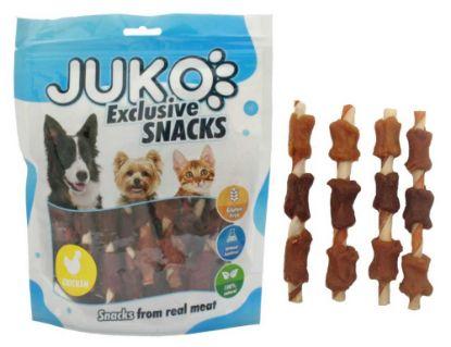 Obrázek JUKO SNACKS Chicken & Duck & Liver wrap rawhide 250 g