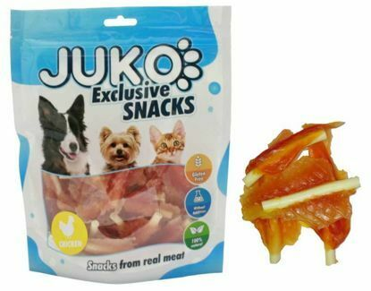 Obrázek JUKO SNACKS Chicken jerky with calcium soft bone 250 g