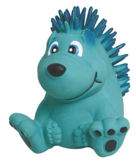 Obrázek z Latexová hračka s pískadlem - modrý ježek 7,5 cm