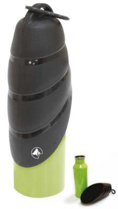 Obrázek Cestovní láhev-ocel-VOYAGER-zelenočerná 750ml-8600C
