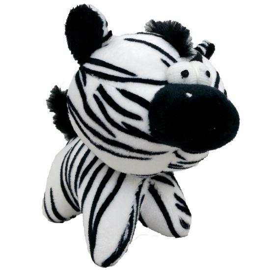 Obrázek z Hračka pes - plyšová zebra pískací 12 cm