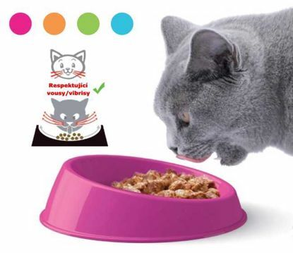 Obrázek Miska kočka VIBRISSA big pr.19x5h-PLAST-10002