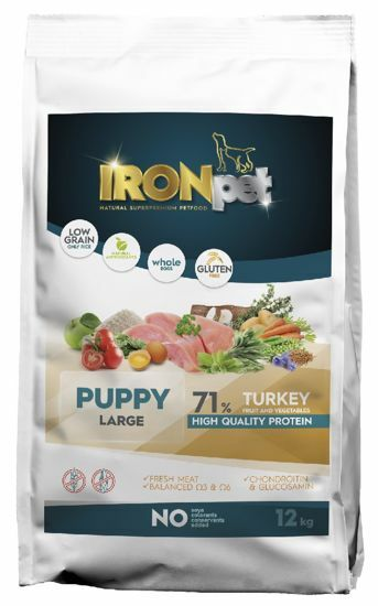 Obrázek z IRONpet Dog Puppy Large Turkey (Krůta) 12 kg