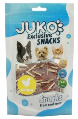 Obrázek JUKO SNACKS Mini Chicken & Liver & Fish stick 70 g