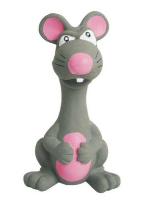 Obrázek Latexová hračka se zvukem - zvíře šedé 15 cm