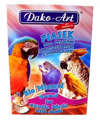 Obrázek Minerální písek s mušlemi pták Dako 1 kg