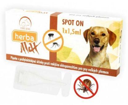 Obrázek Max Herba Spot-on Dog antiparazitní kapsle, pes do 25kg 1 x 1,5 ml -Expirace 2/2021 SLEVA 40%