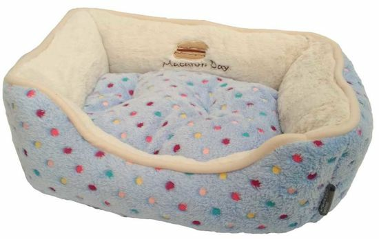 Obrázek z Pelíšek s puntíky Extra soft Bed modrá XS 47 cm