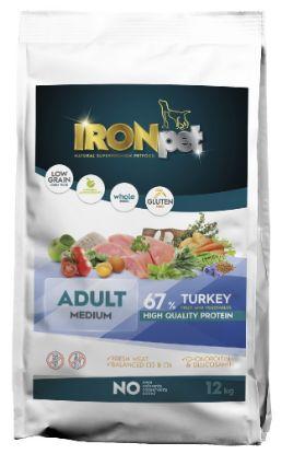 Obrázek IRONpet Dog Adult Medium Turkey (Krůta) 12 kg