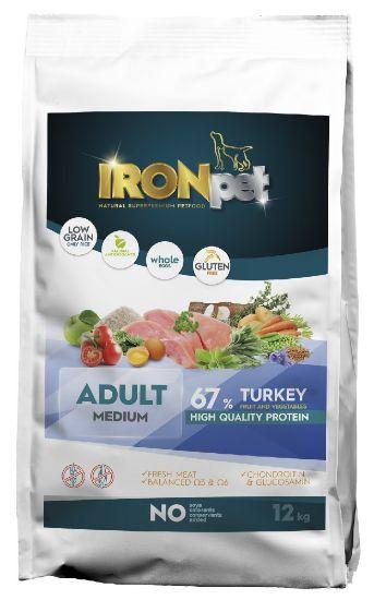 Obrázek z IRONpet Dog Adult Medium Turkey (Krůta) 12 kg