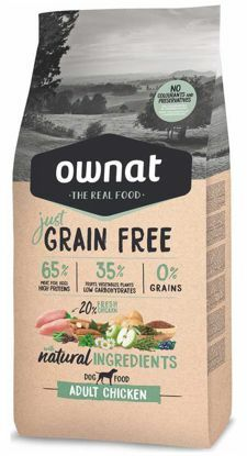 Obrázek OWNAT Dog Just Grain Free Adult Chicken 14 kg