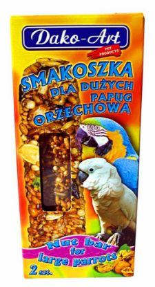 Obrázek Tyčinka s ořechem velký papoušek Dako (2 ks)