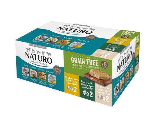 Obrázek z Naturo dog Grain Free Variety 6 Pack 6x400g-15575