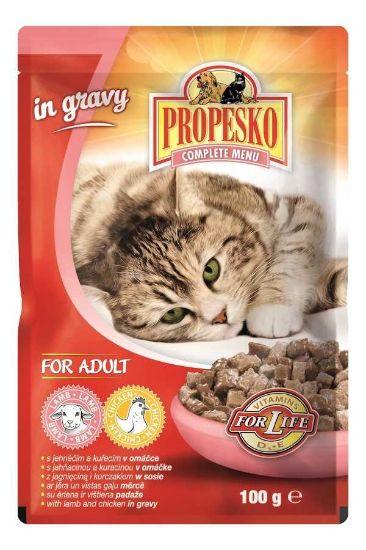 Obrázek z PPROPESKO Cat jehněčí a kuřecí, kapsa 100 g