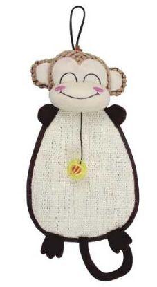 Obrázek Škrábadlo/Opice k zavěšení s hračkou 52x24cm-12729