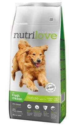 Obrázek Nutrilove pes granule MATURE fresh kuřecí 12kg-13203
