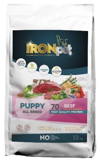 Obrázek z IRONpet Dog Puppy All Breed Beef (Hovězí) 12 kg