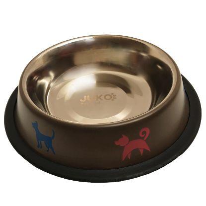 Obrázek Miska nerez hnědá potisk psi 0,55l-15346