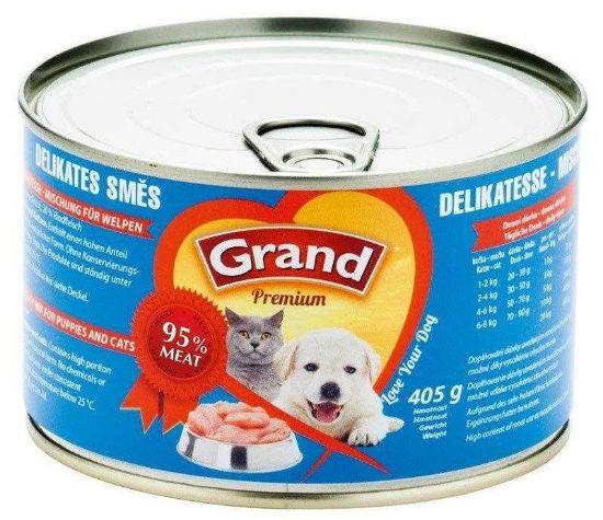 Obrázek z Grand Premium Dog & Cat směs delikates 405 g