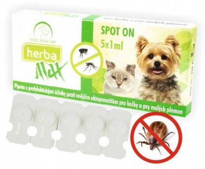 Obrázek Max Herba-SPOT ON dog+cat 5x1ml- Fine dog&cat-9559-OBJ