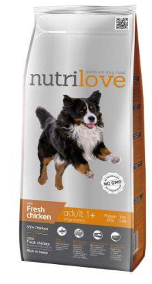 Obrázek Nutrilove pes Adult Large fresh kuřecí, granule 3 kg