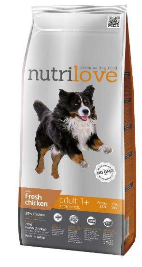 Obrázek z Nutrilove pes Adult Large fresh kuřecí, granule 3 kg