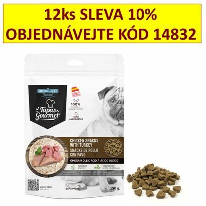 Obrázek Tapas Gourmet Snack for dog Chicken and Turkey 190g-14819
