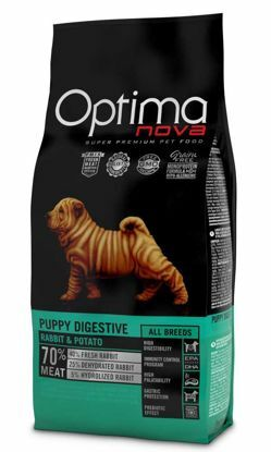 Obrázek OPTIMAnova dog PUPPY DIGESTIVE GF  Rabbit  800g-11085