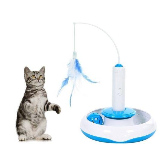 Obrázek z Interaktivní hračka pro kočku 3v1
