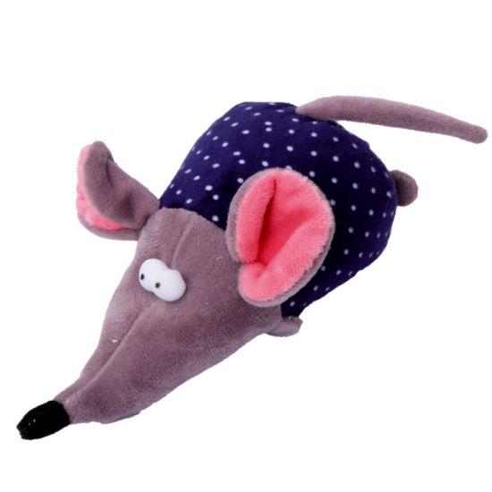 Obrázek z Hračka pes - plyšová myš pískací 17 cm