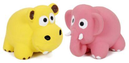 Obrázek Latexová hračka s pískadlem-zvířata 8x6x6cm-14108