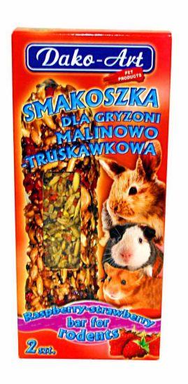 Obrázek z Tyčinka s malinami a jahodami hlodavec Dako (2 ks)